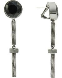 Nicole Miller - Nuts And Bolts Long Drop Earrings - Lyst