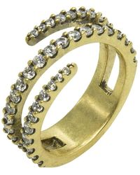 Nicole Miller - Pave Coil Ring - Lyst