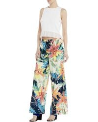 Nicole Miller - Paradise Island Wide Trousers - Lyst