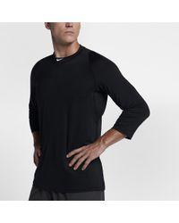 051e3a12c4c6 Lyst - Nike Pro Men s Long Sleeve Training Top in Black for Men