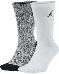 Nike - Jordan Elephant Print Crew Socken (2 Paar) - Lyst