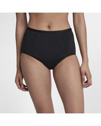 Nike - Solid High Waist Women's Swim Bottoms - Lyst