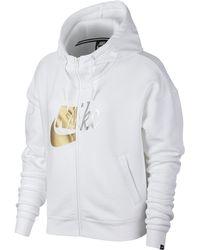 Nike - Sportswear Rally Metallic Full-zip Hoodie - Lyst