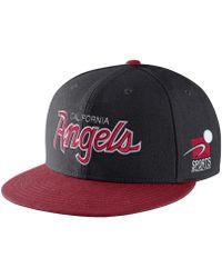 Lyst - Nike Mesh Back Swoosh Flex (mlb Angels) Fitted Hat in White ... d908c373d8af
