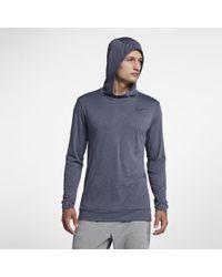 7b1f64f8 Lyst - Nike Men's Breathe Quarter-zip Training Top in Blue for Men