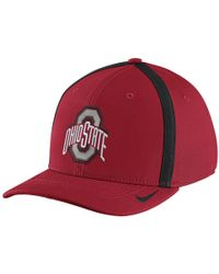 Nike - College Aerobill Swoosh Flex (ohio State) Fitted Hat - Lyst