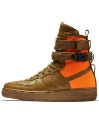 lyst nike air force 1  boot in sf ridgerock / black sequoia in