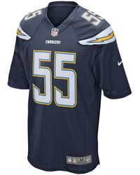 Nike - Nfl San Diego Chargers (junior Seau) Men's Football Home Game Jersey - Lyst