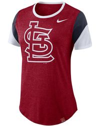 0981021e Lyst - Nike Graphic Logo (mlb Cardinals) Women's T-shirt in Red