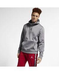 d6ab15fcac6c6a Lyst - Nike Jordan Therma 23 Alpha Full Zip Hoodie in Gray for Men