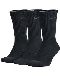 Nike - Dri-fit Half-cushion Crew (3 Pair) Training Socks - Lyst