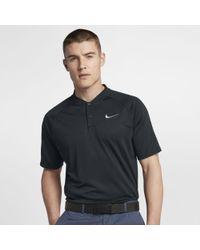 33907874a2 Nike Tw Dry Blur Stripe Men's Standard Fit Golf Polo Shirt in Black for Men  - Lyst