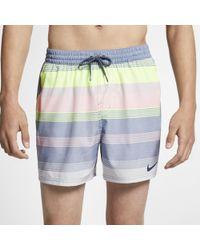 Nike Short de bain Linen Racer 12,5 cm pour - Bleu