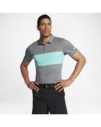 2629779fa7 Nike - Breathe Color Block Men's Standard Fit Golf Polo Shirt - Lyst