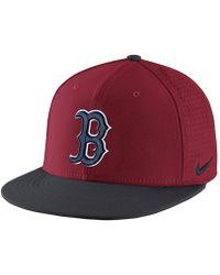 79c623240c5 Nike - Aerobill True (mlb Red Sox) Adjustable Hat (red) - Lyst