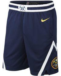 9b1b8aa74 Mitchell   Ness Nba Denver Nuggets Swingman Shorts in Blue for Men ...