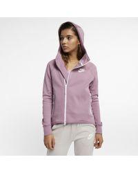 c03fea7009b7 Nike Sportswear Tech Fleece Full-zip Cape in Pink - Lyst