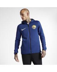 1845a08ee Nike Utah Jazz Therma Flex Showtime Nba Hoodie in Blue for Men - Lyst