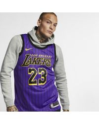 Nike - Lebron James City Edition Swingman (los Angeles Lakers) Nba Connected Jersey - Lyst