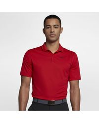 080a6ee12 Nike Victory Mini Stripe Men s Standard Fit Golf Polo Shirt in Pink ...