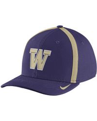 Nike - College Aerobill Swoosh Flex (washington) Fitted Hat - Lyst