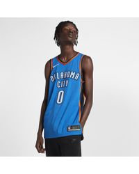 e560501c4ab7da Nike - Russell Westbrook Icon Edition Authentic Jersey (oklahoma City  Thunder) Men s Nba Connected
