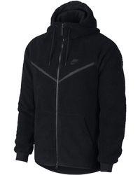 Nike - Felpa sherpa con cappuccio Sportswear Windrunner Tech Fleece - Lyst