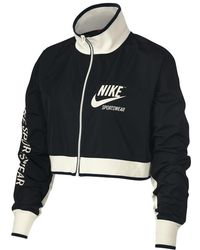 7c4ef37ec170 Lyst - Nike Sportswear Advance 15 Women s Track Jacket in Black