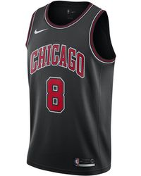 b9d957986a5 Nike Nba Chicago Bulls Lavine City Jersey in Black for Men - Save 8% - Lyst