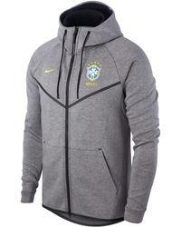 Nike - Veste Brasil CBF Tech Fleece Windrunner pour Homme - Lyst