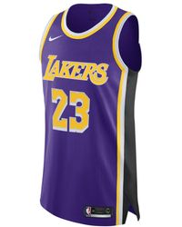 e8c424c5c03 Nike - Lebron James Statement Edition Authentic (los Angeles Lakers) Mens  Nba Connected Jersey