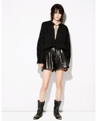Nili Lotan - Roxana Lambskin Leather Short - Lyst