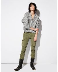 Nili Lotan - Cargo French Military Cotton Twill Pant - Lyst