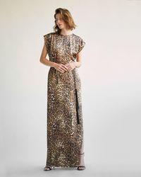 316518ec71aaa Nili Lotan Maxi Cami Dress in Natural - Lyst