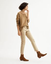 Nili Lotan - East Hampton Pant In Desert Sand W/ Orange/navy Tape - Lyst