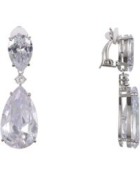 Nina - Nirvana Earring-rhodium White - Lyst