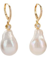 Nina - Cordoba Earring-gold Plating White - Lyst