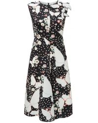 Valentino - Butterfly And Floral Print Dress - Lyst