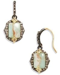 Armenta - Old World Emerald Cut Drop Earrings - Lyst