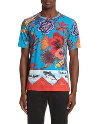 Paul Smith - Fish Print T-shirt - Lyst