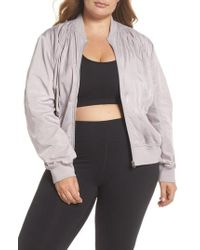 4311e90fda81 Lyst - Zella Pop It Up Jacket in Purple