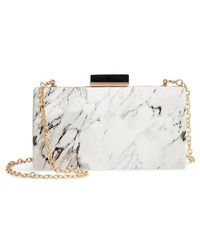 Sondra Roberts - Marble Print Faux Leather Box Clutch - Lyst