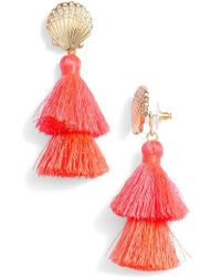 Lilly Pulitzer - Lilly Pulitzer Shell Yeah Tassel Earrings - Lyst