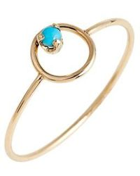 Zoe Chicco | Turquoise Circle Ring | Lyst