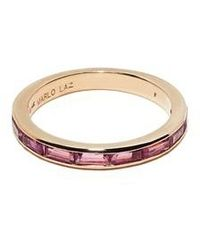 Marlo Laz - Pink Tourmaline Baguette Ring - Lyst