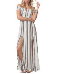 Rip Curl - Soulmate Off The Shoulder Maxi Dress - Lyst