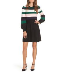 Vince Camuto - Balloon Sleeve Fit & Flare Sweater Dress - Lyst