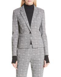 HUGO - Asima Bold Check Suit Jacket - Lyst