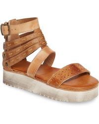 e41069b6364 Bed Stu - Artemia Leather Banded Flatform Sandals - Lyst