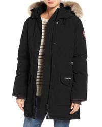 Canada Goose - Trillium Fusion Fit Hooded Parka With Genuine Coyote Fur Trim - Lyst